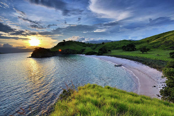 Indonesian Culture Photograph - Pinky Island In Sunset by Teeje