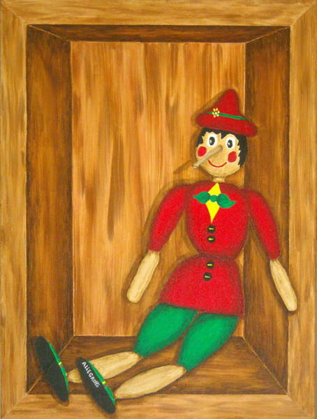 San Miniato Painting - Pinocchio by Pamela Allegretto