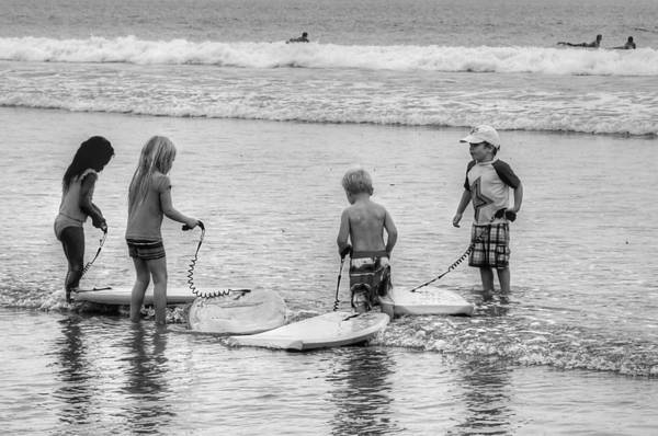 Photograph - Pint Size Boogie Boarders by Bill Hamilton