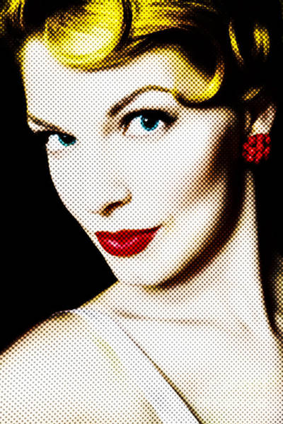 Blonde Photograph - Pinup Girl by Diane Diederich