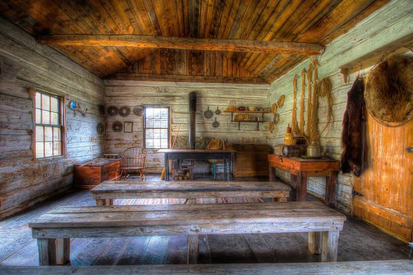 Pioneer School Photograph - Pioneer Cabin by Fischer  Photography