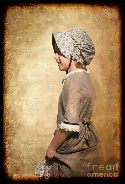 Western Costume Photograph - Pioneer Girl by Betty LaRue