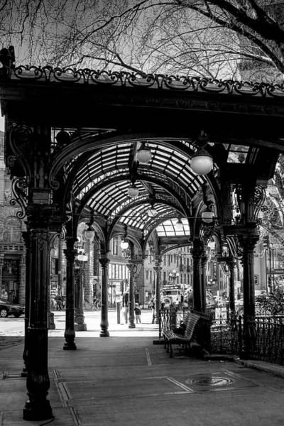 Storefront Photograph - Pioneer Square Pergola by David Patterson