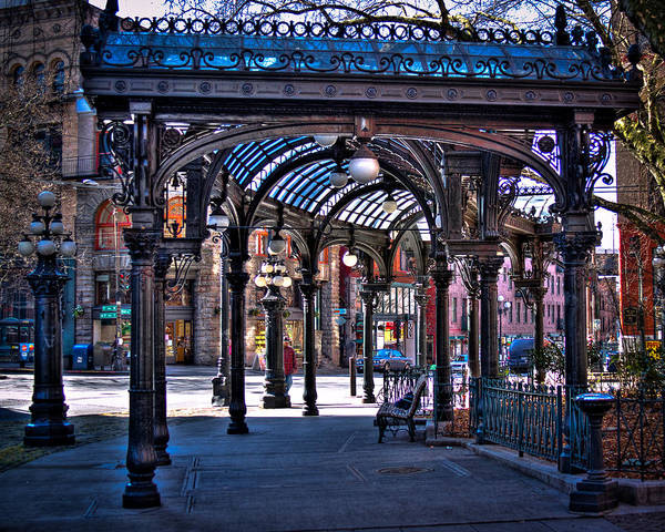 Photograph - Pioneer Square's Pergola - Seattle by David Patterson