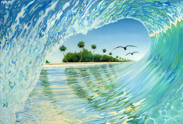 Surfer Painting - Pipe Dream by Kelly Meagher