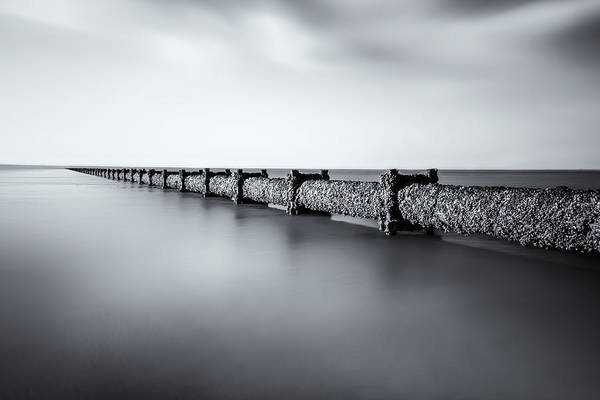 Margate Photograph - Pipe Dreams Mono by Ian Hufton