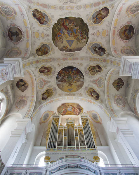Photograph - Pipe Organ And Ceiling by Jenny Setchell