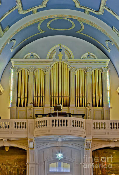 Photograph - Pipe Organ At Saint Michaels by Susan Candelario