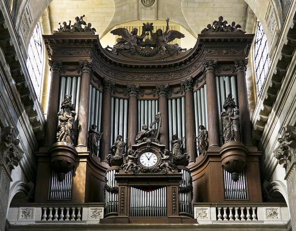 Pipe Organ In St Sulpice Art Print