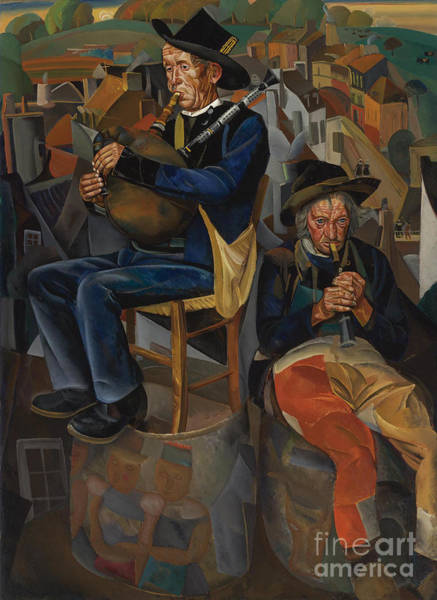Russian Impressionism Wall Art - Painting - Pipe Players by Celestial Images