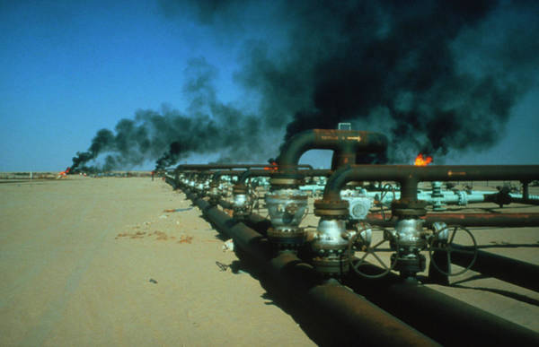 Fossil Fuel Photograph - Pipeline Carrying Crude Oil In The Libyan Desert. by Occidental Consortium/science Photo Library.
