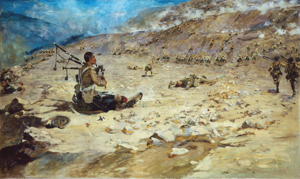 Wounded Soldier Painting - Piper George Findlater Of The Gordon by Edward Matthew Hale