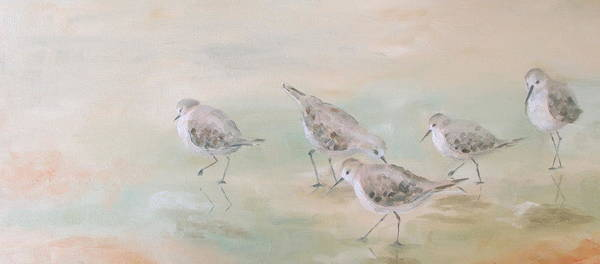 Wall Art - Painting - Pipers Five by Susan Richardson