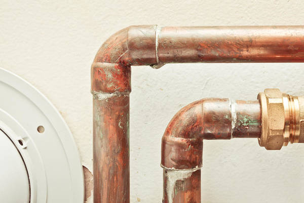 Corrosion Photograph - Pipes by Tom Gowanlock