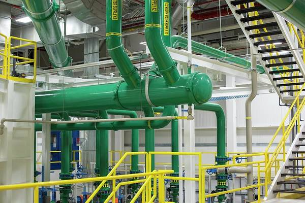 Manufacturing Plant Wall Art - Photograph - Pipework In A Car Factory by Jim West