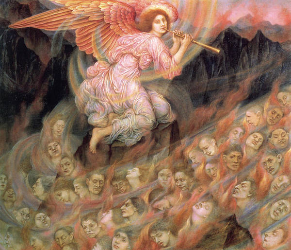 Digital Art - Piping To The Souls In Hell by Evelyn de Morgan