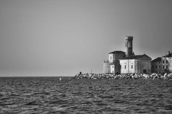 Photograph - Piran Bw by Ivan Slosar
