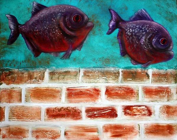 Wall Art - Painting - Piranha by Laura Barbosa