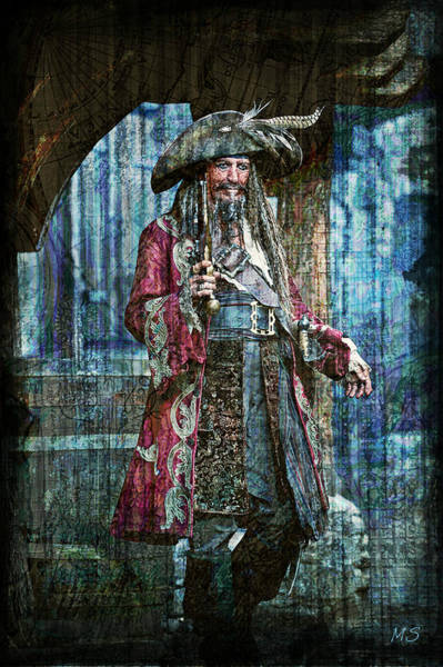 Pirates Of The Caribbean Digital Art - Pirate Keith Richards by Absinthe Art By Michelle LeAnn Scott