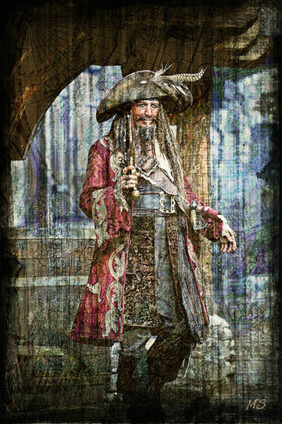 Pirates Of The Caribbean Digital Art - Pirate Keith Richards - Steampunk by Absinthe Art By Michelle LeAnn Scott