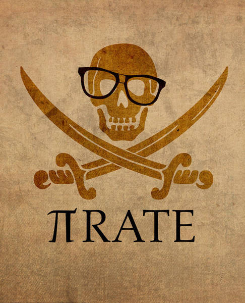 Flag Wall Art - Mixed Media - Pirate Math Nerd Humor Poster Art by Design Turnpike