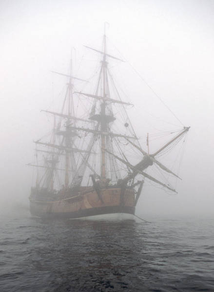 Photograph - Pirate Ship In The Fog by Cliff Wassmann