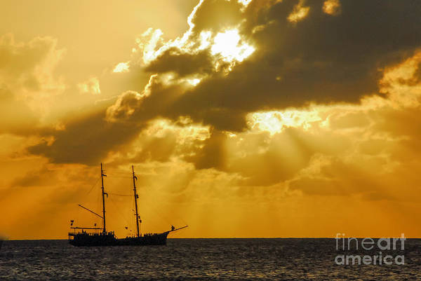 Wall Art - Photograph - Pirate Ship Sailing Into The Night by Paul Quinn