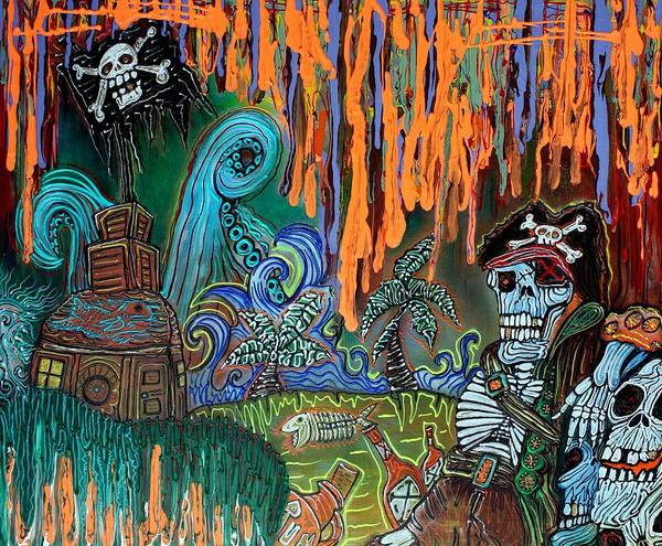 Wall Art - Painting - Pirate's Cove by Laura Barbosa