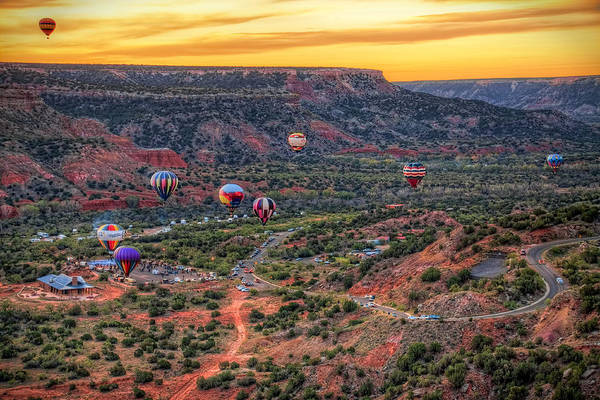 Hot Air Balloons Photograph - Pirates Of The Canyon by Tom Weisbrook