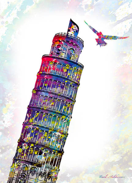 Famous Places Digital Art - Pisa Tower  by Mark Ashkenazi