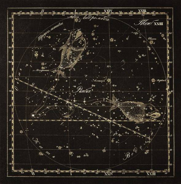 Pisces Photograph - Pisces Constellation, 1829 by Science Photo Library