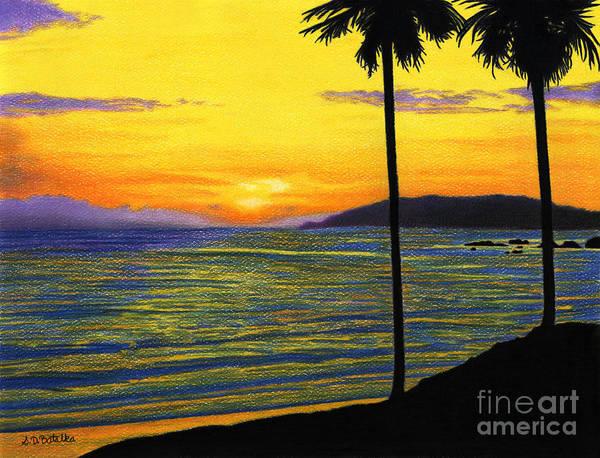 Colored Pencil Drawings Painting - Pismo Beach California  by Sarah Batalka