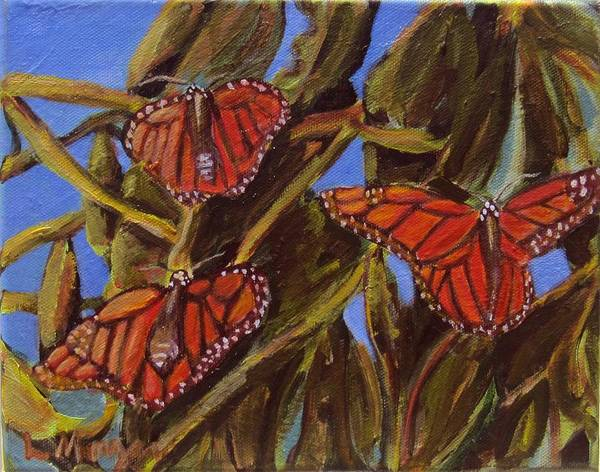 Painting - Pismo Monarchs by Laurie Morgan
