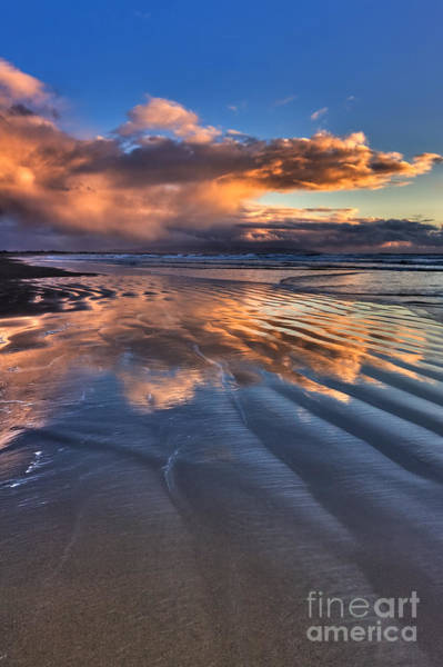 Photograph - Pismo Storm Cloud Reflections by Beth Sargent