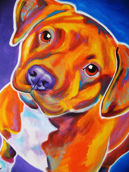 Bully Painting - Staffordshire - Harlem by Alicia VanNoy Call