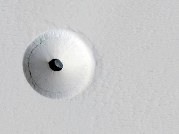 Subterranean Photograph - Pit On A Martian Volcano by Jpl/university Of Arizona /nasa