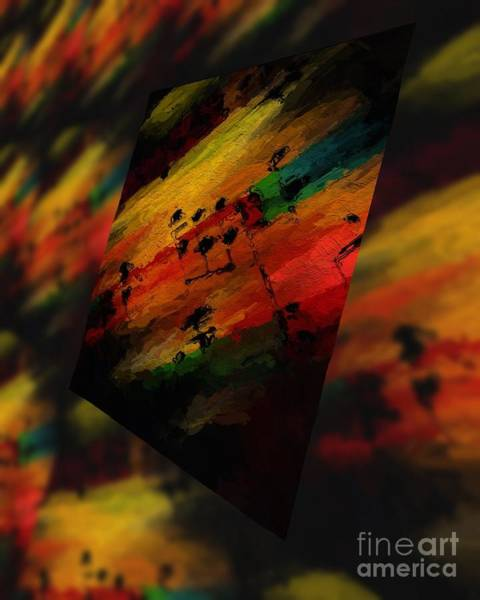 Art Print featuring the digital art Pitch Space 5 by Lon Chaffin
