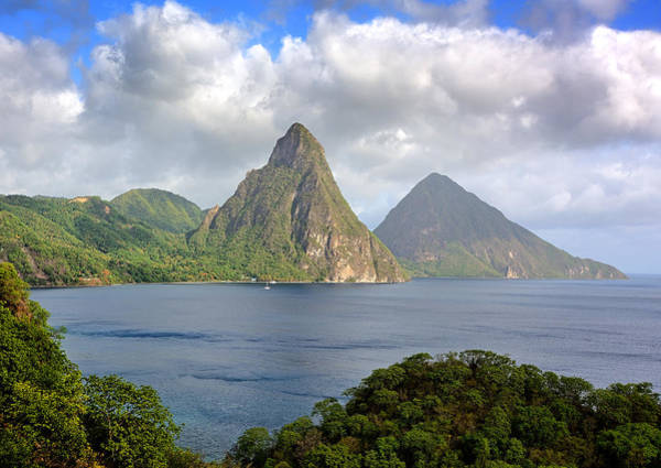 St. Lucia Photograph - Piton Mountains - Saint Lucia by Brendan Reals