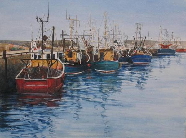 Fife Painting - Pittenweem Boats by Stella Turner