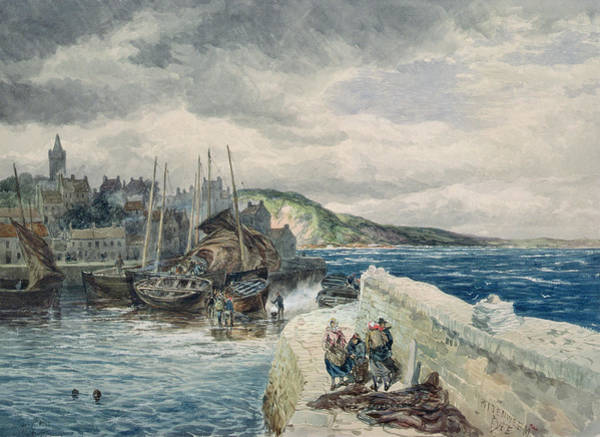 Fife Painting - Pittenweem, Fife by Samuel Bough