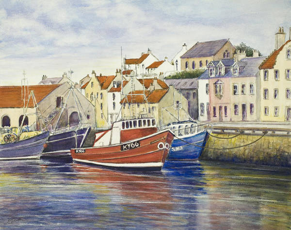 Fife Painting - Pittenweem Harbour by Stella Turner