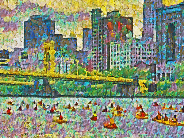 Digital Art - Pittsburgh Adventure Race by Digital Photographic Arts