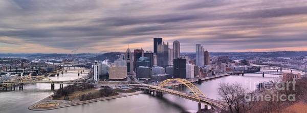 Photograph - Pittsburgh In Purple by Adam Jewell