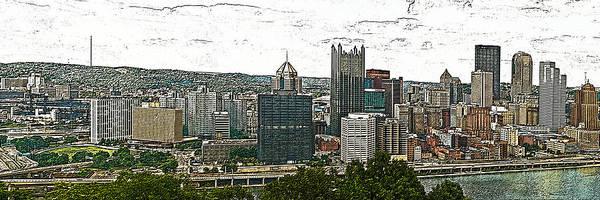 Photograph - Pittsburgh Panorama Artistic Brush by G L Sarti