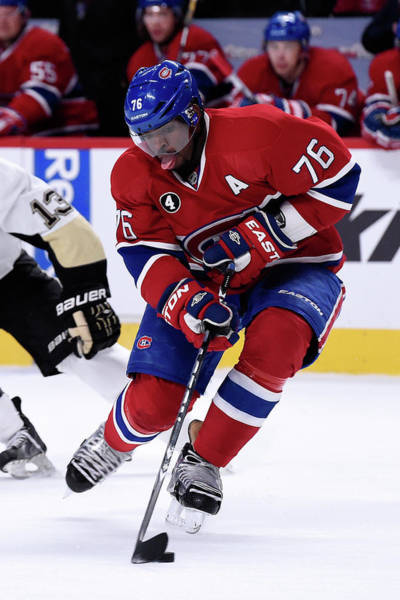 Montreal Photograph - Pittsburgh Penguins V Montreal Canadiens by Richard Wolowicz