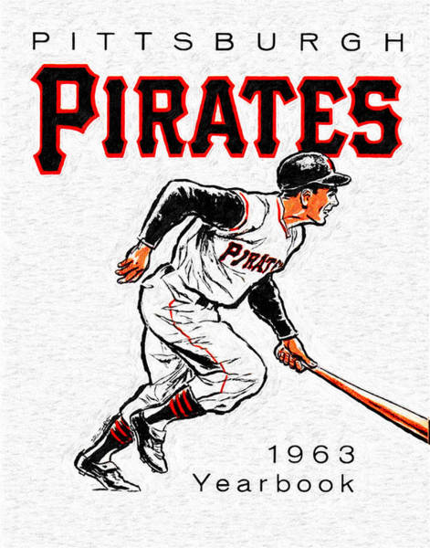 Hitter Painting - Pittsburgh Pirates 1963 Yearbook by John Farr