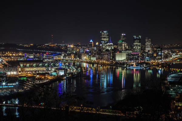 City Scape Photograph - Pittsburgh Skyline At Night by April Reppucci