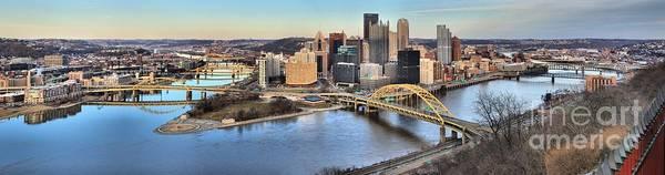 Photograph - Pittsburgh Spring Sunset Panorama by Adam Jewell