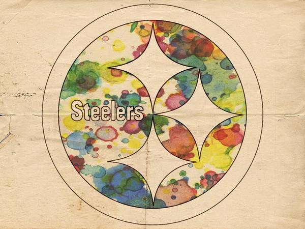 Painting - Pittsburgh Steelers Poster Art by Florian Rodarte