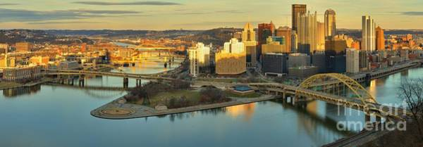 Photograph - Pittsburgh Sunset Reflections by Adam Jewell